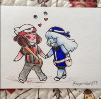 Ruby and Sapphire by dragonleaf1123
