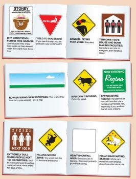 'Canadian Road Signs' page 2 by Huwman