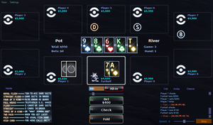 PokerTH 'Tron: Legacy' Table With 4-Color Deck by Furrball75