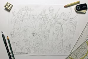 MCU Phase 1 villains WIP1 by Quelchii