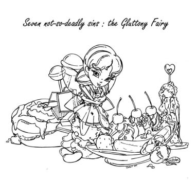 The Gluttony Fairy by JadeDragonne
