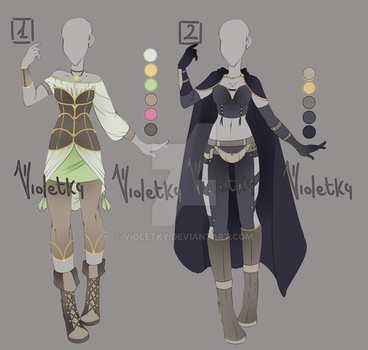 :: Adoptable Outfit 05: AUCTION  CLOSED  :: by VioletKy