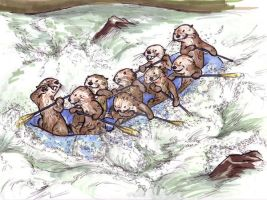 Raft of Otters by PaiwaYunder7
