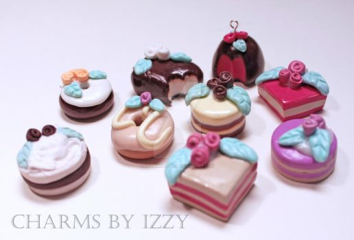 Big tea and cakes charm collection by CharmsByIzzy