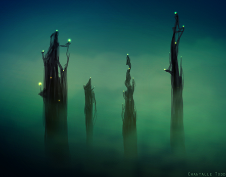 The Dreaming Towers by chantalleet