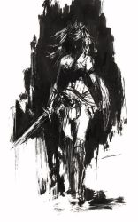 Wonder Woman Inks by Alex-Chow