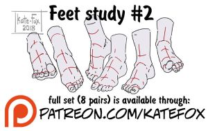 Feet study 2 by Kate-FoX