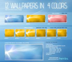 12 Shiny and Clean Wallpapers by Harm-Less