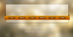 Website menu PSD by Martz90