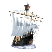 Colonial Ship PNG by LG-Design