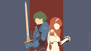 Alm and Celica (Fire Emblem : Shadows of Valentia) by Sephiroth508