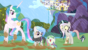 MLP FIH [Next Gen] Fun in a raining day. by VelveagicSentryYT