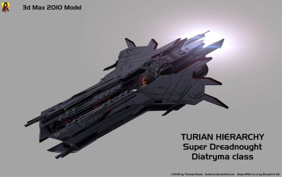 Turian Super Dreadnought - 3d Max 10 Model by Euderion