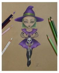 Little Witch - DailySketch Nov18 by RandomMumble