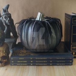 Black Silver Punk Halloween Pumpkin by Elfedward