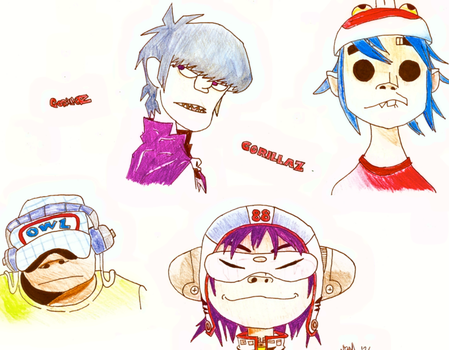 Gorillaz :P by Buttered-Toast72
