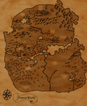 Lost In Your World: World Map by Birdhousebirdy