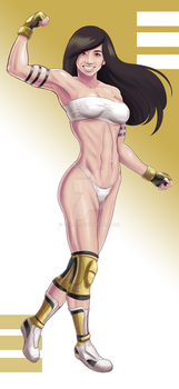 Commission fighter girl by Solfei