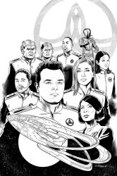 The Orville issue 1 cover inks by Almayer