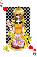 Chica queen of hearts by SooJi-Oh