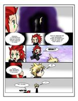 Axel meets Cloud in KHII by Kurayami-no-Kitsune