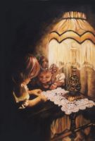 Up to Mischief - Oil Painting by AstridBruning