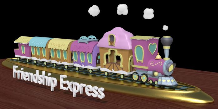 The Friendship Express (3d model) by cshep99