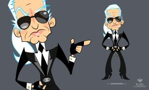 Karl Lagerfeld by nicotronick