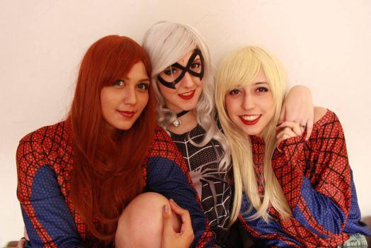 Mj, Felicia and Gwen Cosplay by Naru-Langley