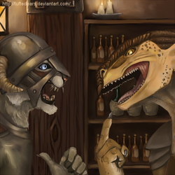 No, I'm the Dragonborn! by TuftedEars