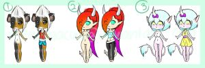 Chibi Adopts 2 [1/3 Open] by MeowImaCow