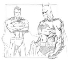 Superman and Batman by adr-ben