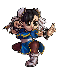 Street Fighter V - Chun-Li Chibi V.2 by fastg35