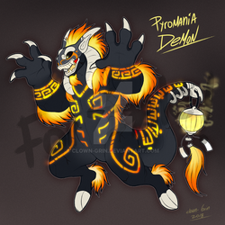 Pyromania Demon FOR AUCTION by Clown-Grin