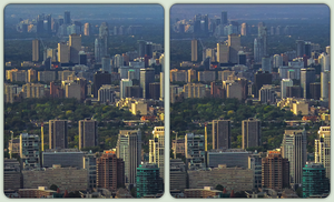 Toronto, North York 3-D / CrossView / Hyperstereo by zour