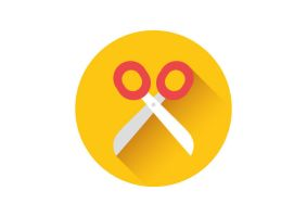 Scissors Flat Vector Icon by superawesomevectors