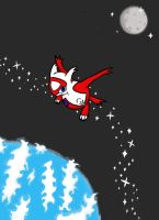 Latias in space by RikoriStorm