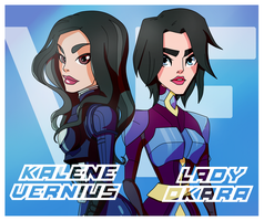Kalene Vernius and Lady Okara Gift by VexyFate