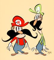 Mario Mario and Luigi Mario by Themrock