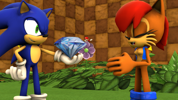 SFM - Sonic and Sally by Epic-Hound