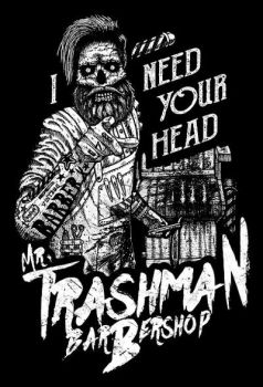 Mr Trashman Barbershop t-shirt by DariusM1993