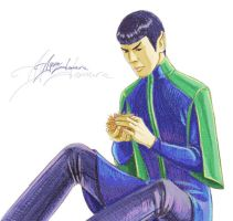 Spock and tribble by ayumi-lemura