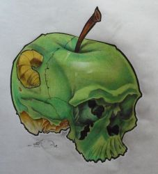dead apple by Rycko-Tattoo-Factory