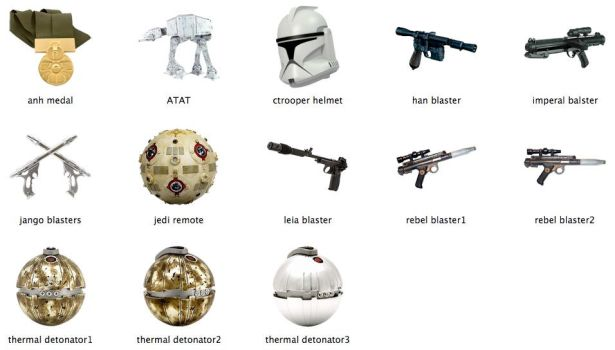 Star Wars Weapons by markdelete