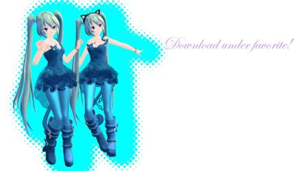 MMD TDA Cat Dress Miku (DL) by Solastraza