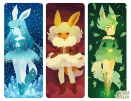 eeveelutions 3 by mayakern