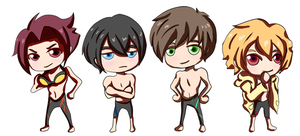 Swimmers - Buttons/Stickers by khiro