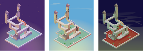 Monument Valley level design by Ombreuse