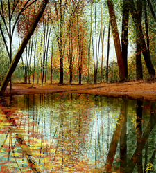 Autumn - Watercolor by MarianthiZ