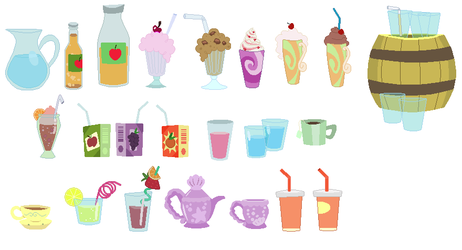Beverage Accessory Set 02 by SelenaEde